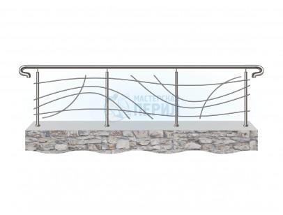 Ограждения из нержавеющей стали с дизайнерским наполнением ригелями номер 3