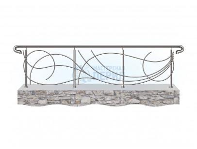 Ограждения из нержавеющей стали с дизайнерским наполнением ригелями номер 2